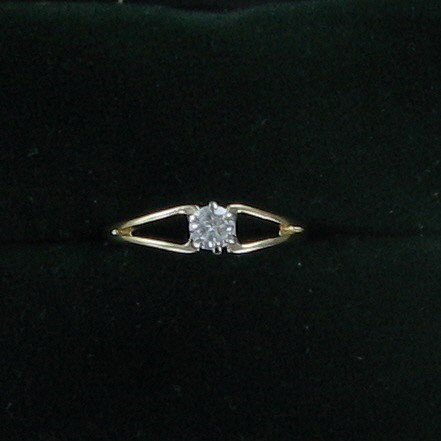 Lady's Diamond Solitaire Ring .25 CT. 14K Yellow Gold 1dwt