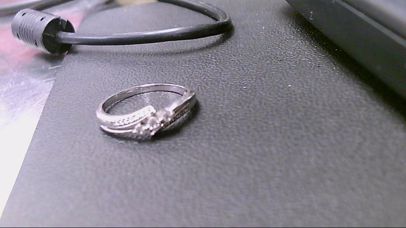 Lady's Diamond Cluster Ring 17 Diamonds .27 Carat T.W. 14K White Gold 2.6g