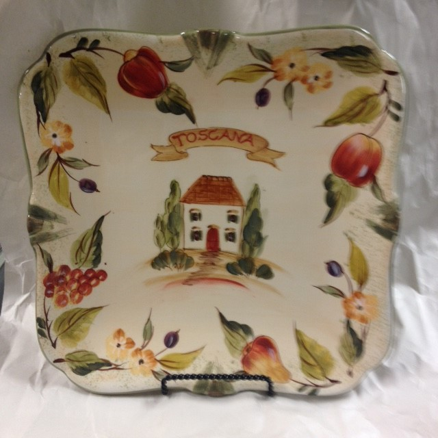 TOSCANA PLATE WITH STAND