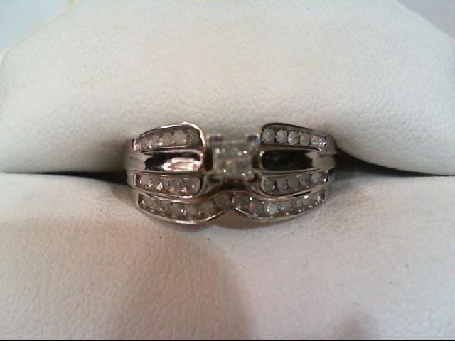 Lady's Diamond Wedding Set 38 Diamonds .46 Carat T.W. 10K White Gold 3.5g