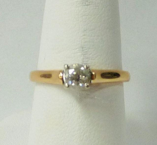 Lady's Diamond Engagement Ring .25 CT. 14K Yellow Gold 1.74dwt