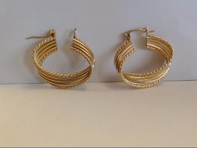 Gold Earrings 14K Yellow Gold 4.1g