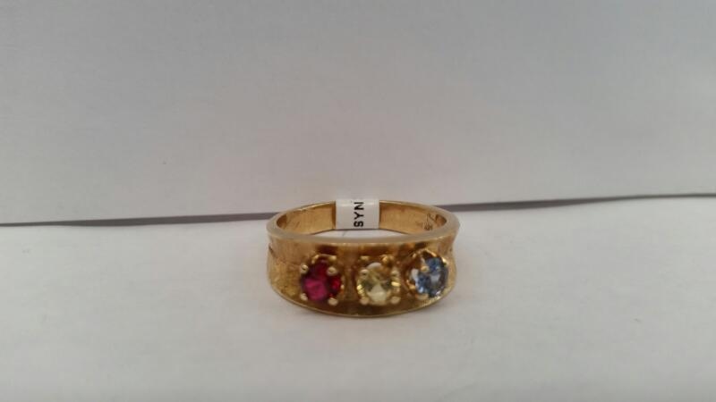 """14k Yellow Gold Ring """"Mother's Ring"""""""