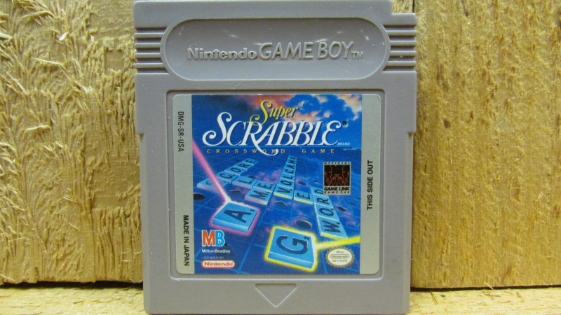 NINTENDO Vintage Game SUPER SCRABBLE CROSSWORD GAME (GAMEBOY)