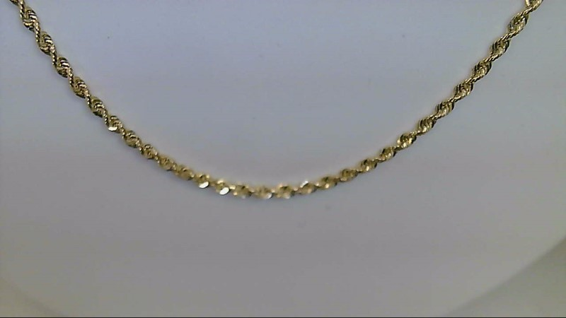 Gold Rope Chain 10K Yellow Gold 10.1g