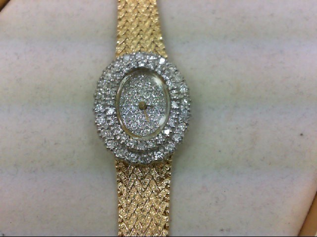 Lds watch 80 Diamonds 2.40 Carat T.W. 14K Yellow Gold 37.7g