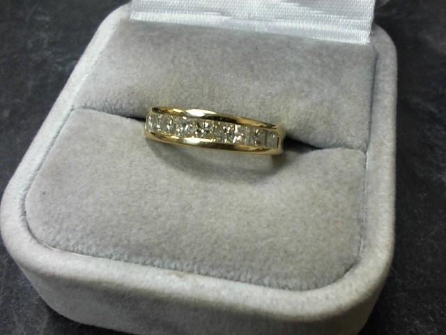 Lady's Diamond Wedding Band 10 Diamonds 1.00 Carat T.W. 14K Yellow Gold 4.4g