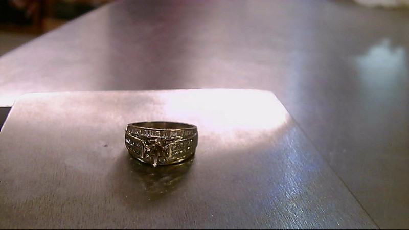 Lady's Diamond Engagement Ring 74 Diamonds .74 Carat T.W. 10K White Gold 6.12g