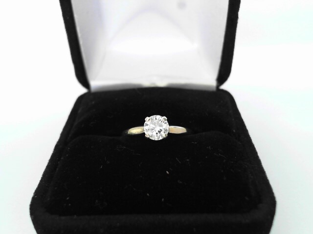 Lady's Diamond Solitaire Ring .59 CT. 14K Yellow Gold 1.3dwt