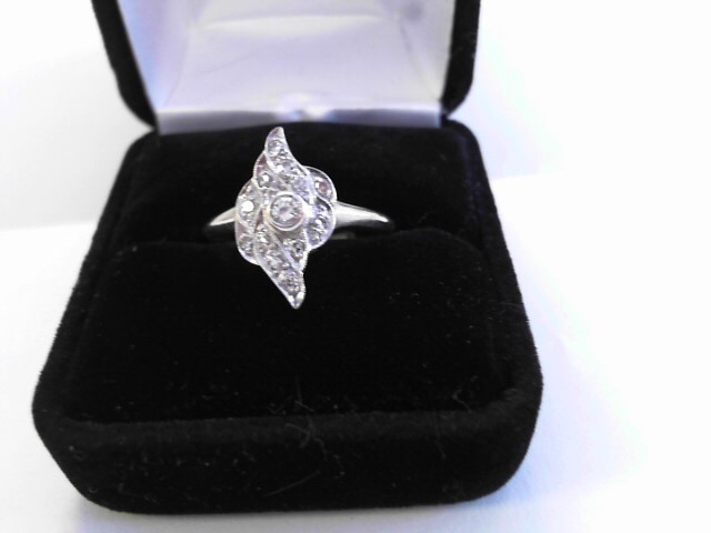 Lady's Diamond Fashion Ring 11 Diamonds .20 Carat T.W. 14K White Gold 2.1dwt