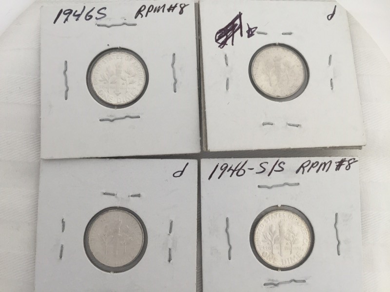 LOT OF 4 UNITED STATES ROOSEVELT DIME 1946 S