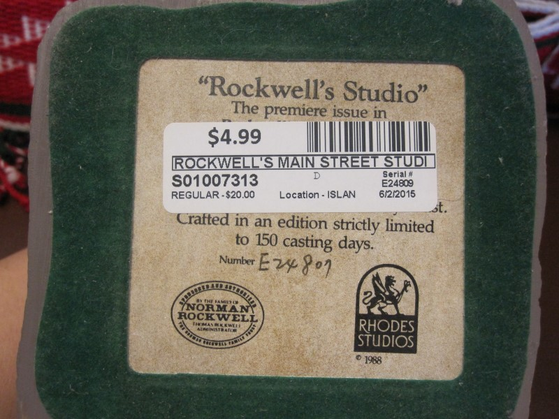 ROCKWELL'S MAIN STREET Collectible Plate/Figurine ROCKWELL'S STUDIO