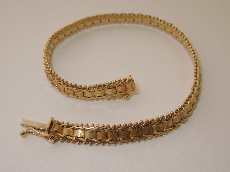 Gold Fashion Bracelet 14K Yellow Gold 10g
