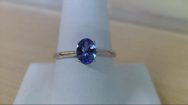 Tanzanite Lady's Stone Ring 10K White Gold 2g