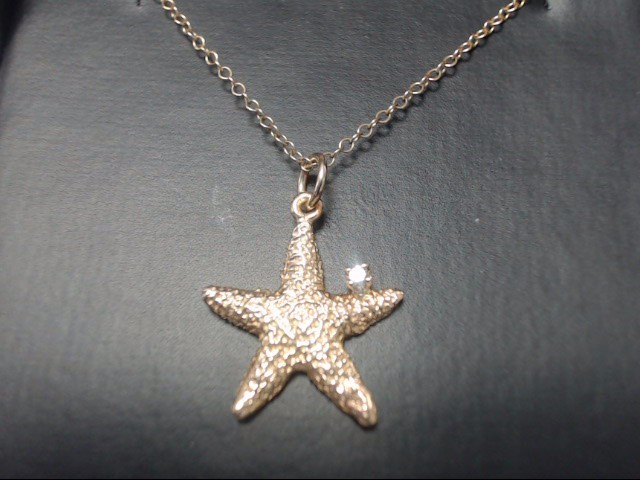 Custom Made Starfish & Diamond Necklace Goldsmith Shop Hilton Head, SC