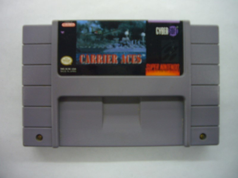 NINTENDO SNES Game CARRIER ACES *CARTRIDGE ONLY*