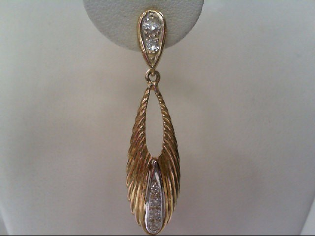 Gold-Diamond Earrings 12 Diamonds .66 Carat T.W. 14K Yellow Gold 7.2g