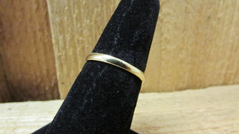 Lady's Gold Ring 18K Yellow Gold 1.8g Size:7.5