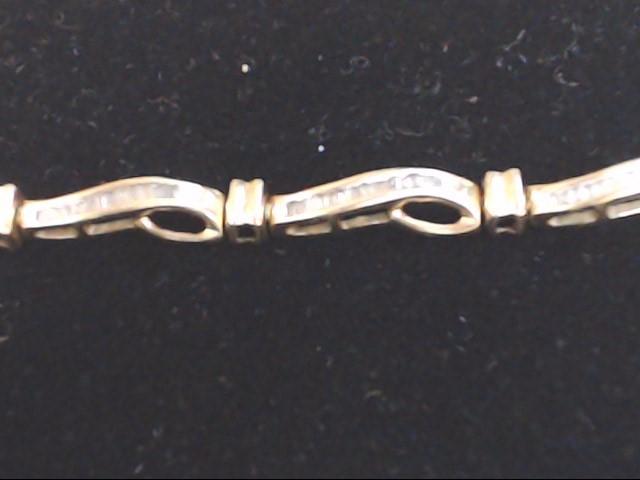 Gold-Diamond Bracelet 150 Diamonds .750 Carat T.W. 10K Yellow Gold 8.6g