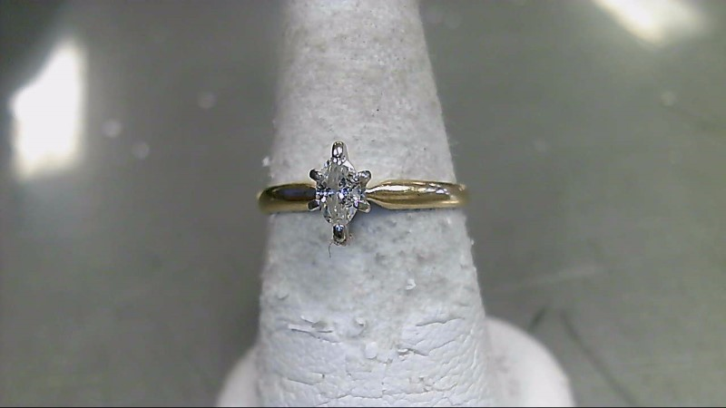 Lady's Diamond Solitaire Ring .20 CT. 14K Yellow Gold 2.2g