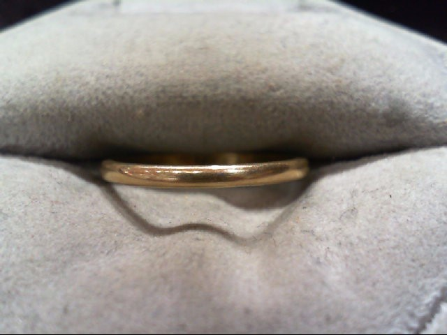 Lady's Gold Wedding Band 14K Yellow Gold 1.3g Size:6.5