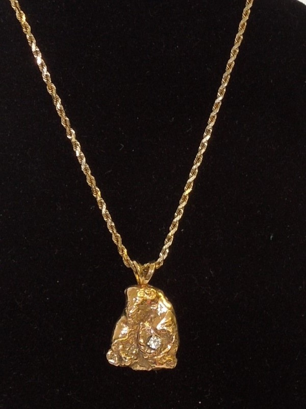"18"" Diamond Necklace .07 CT. 14K Yellow Gold 11.7g"