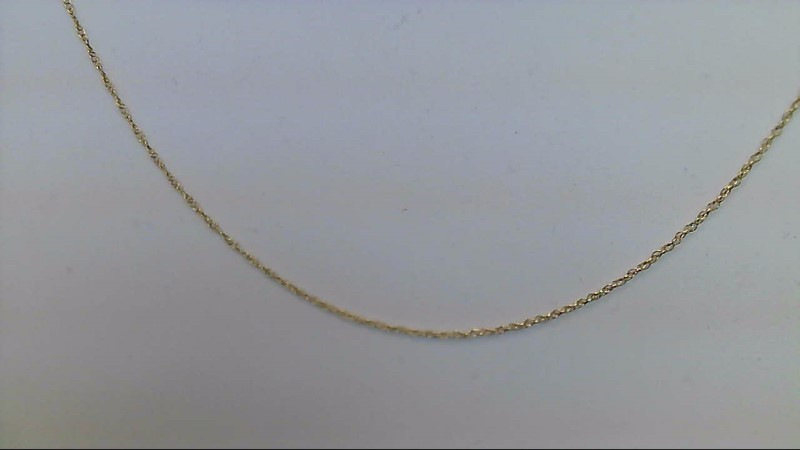 Gold Fine Chain 14K Yellow Gold 0.38g
