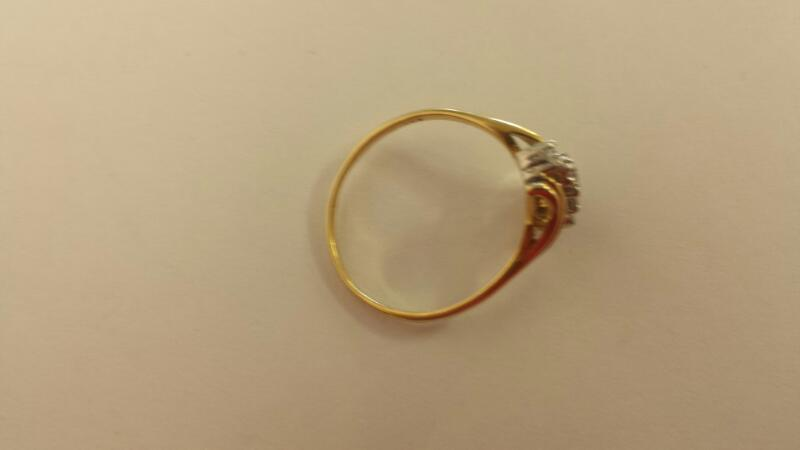 Lady's Diamond Cluster Ring 10 Diamonds .40 Carat T.W. 10K Yellow Gold 1.9dwt