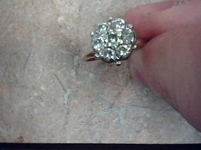 Lady's Diamond Cluster Ring 7 Diamonds .21 Carat T.W. 14K Yellow Gold 2.8g