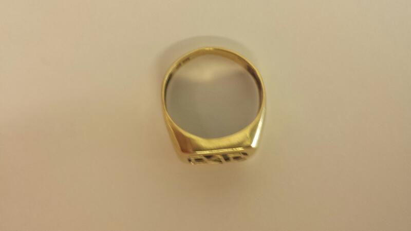 Black Stone Gent's Stone & Diamond Ring 2 Diamonds .002 Carat T.W.