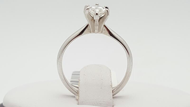 Lady's Diamond Solitaire Ring .69 CT. 14K White Gold 2.3g
