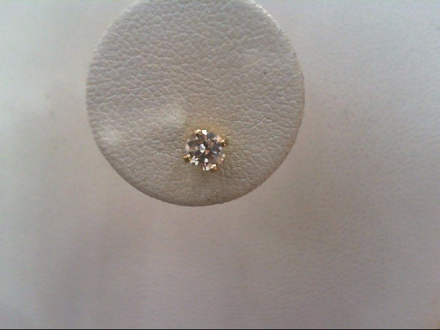 Gold-Diamond Earrings .20 CT. 14K Yellow Gold 0.3g