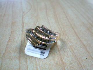 Lady's Diamond Cluster Ring 34 Diamonds .51 Carat T.W. 10K Yellow Gold 3g