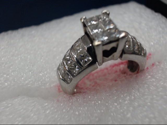 Synthetic Aquamarine Lady's Stone & Diamond Ring 34 Diamonds .34 Carat T.W.