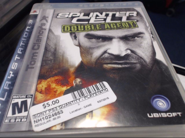 SONY PS3 SPLINTER CELL DBL AGENT