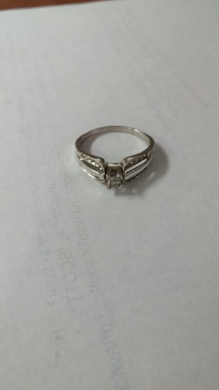 Lady's Diamond Fashion Ring 24 Diamonds .48 Carat T.W. 10K White Gold 2.4g