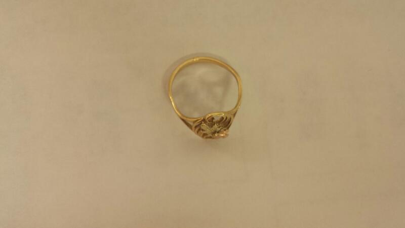 10k Tri-Color Ring 1.0dwt Size 6.5