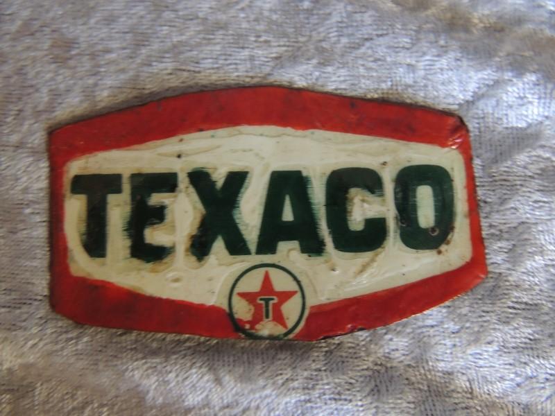 """TEXACO STATION METAL TIN SIGN VINTAGE 3"""" x 2"""""""