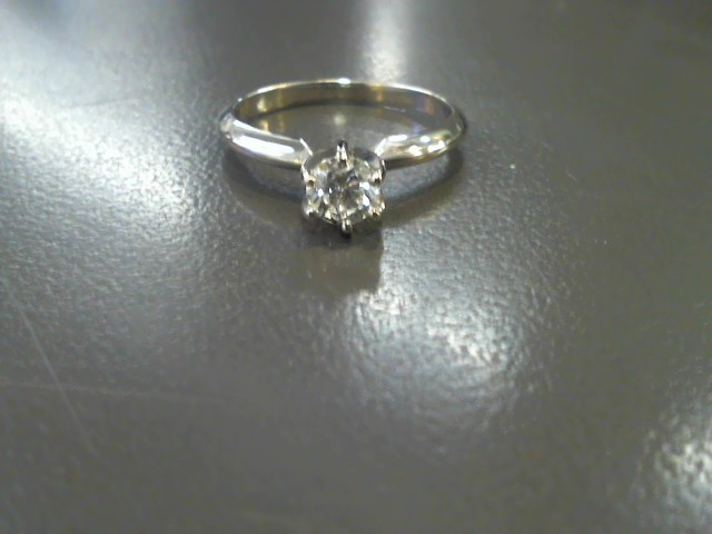 Lady's Diamond Solitaire Ring .40 CT. 10K White Gold 2.3g