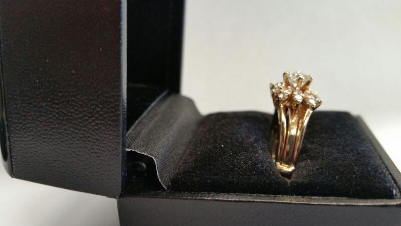 Lady's Diamond Wedding Set 21 Diamonds .75 Carat T.W. 14K Yellow Gold 3.8dwt