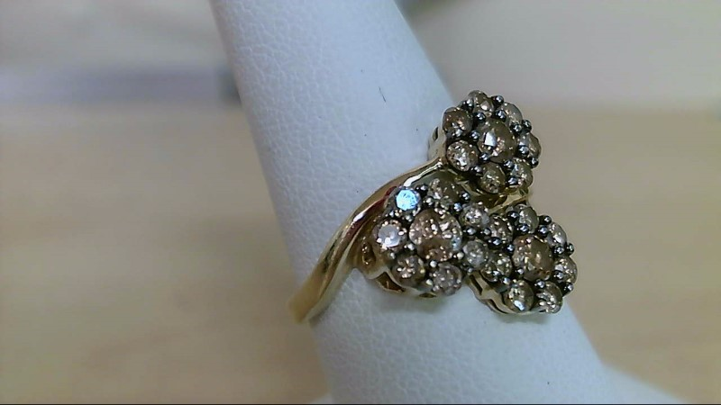 Lady's Diamond Fashion Ring 24 Diamonds .87 Carat T.W. 10K Yellow Gold 3.06g