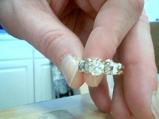 Lady's Diamond Cluster Ring 9 Diamonds 1.53 Carat T.W. 14K Yellow Gold 5.08g