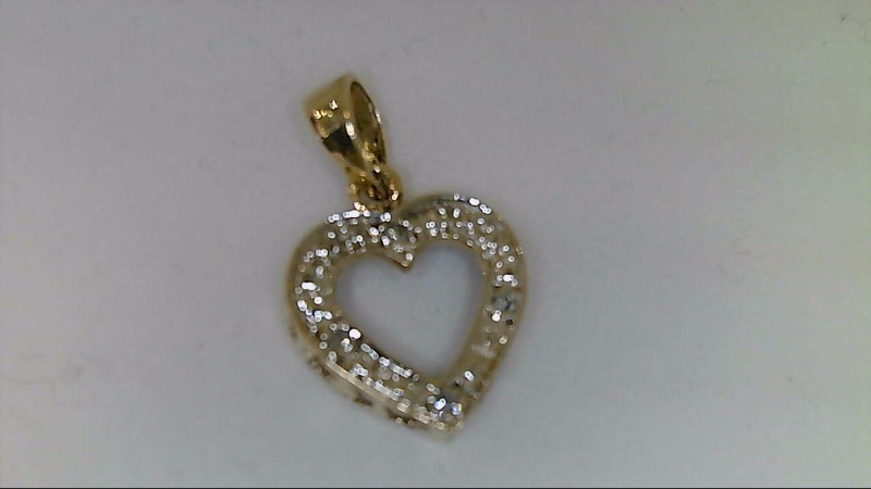 Gold-Multi-Diamond Pendant 4 Diamonds .04 Carat T.W. 10K Yellow Gold 1.4g