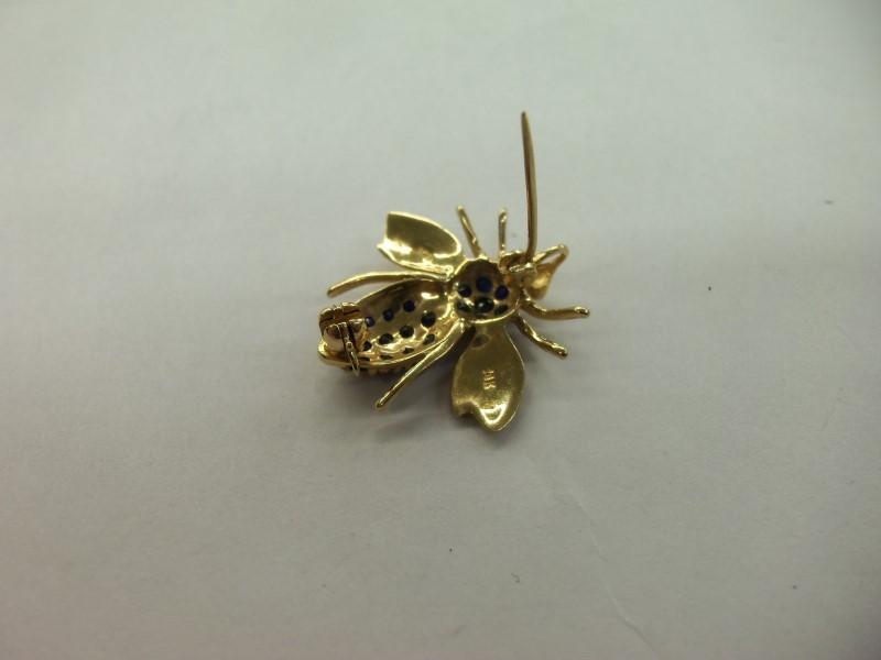 BUMBLE BEE BROOCH PIN 14K