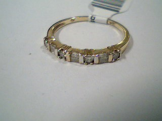 Lady's Diamond Wedding Band 10 Diamonds .32 Carat T.W. 10K Yellow Gold 1.4g