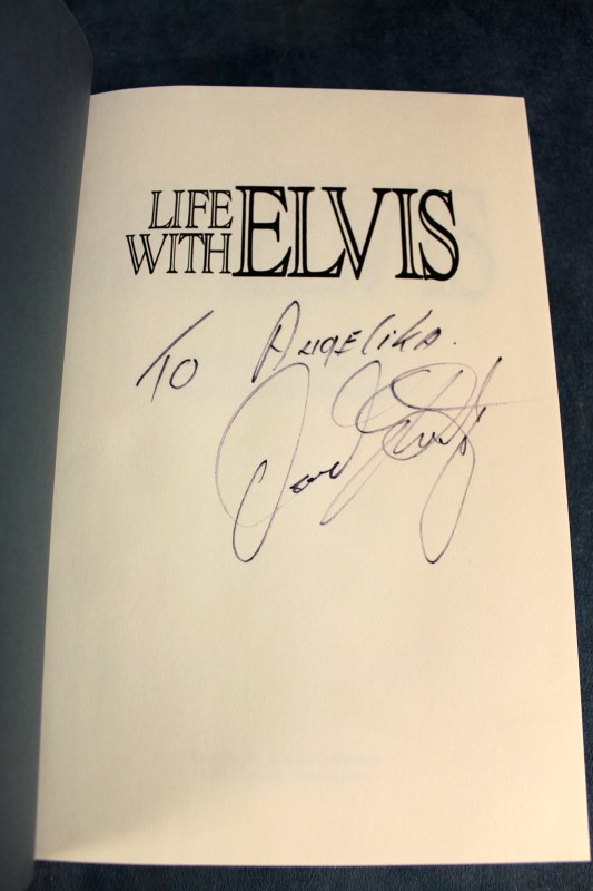"""Life with Elvis"" by David Stanley, Hardcover, Auto  - D"