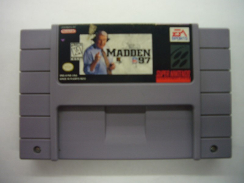 NINTENDO SNES Game MADDEN 97 *CARTRIDGE ONLY*
