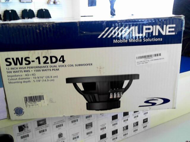ALPINE ELECTRONICS Car Speakers/Speaker System SWS-12D4