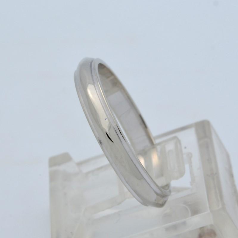 ESTATE WEDDING RING 3MM BAND SOLID 14K WHITE GOLD DIAMOND CUT SIZE 6