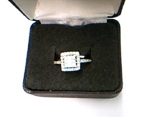 Lady's Diamond Engagement Ring 187 Diamonds 2.36 Carat T.W. 14K White Gold